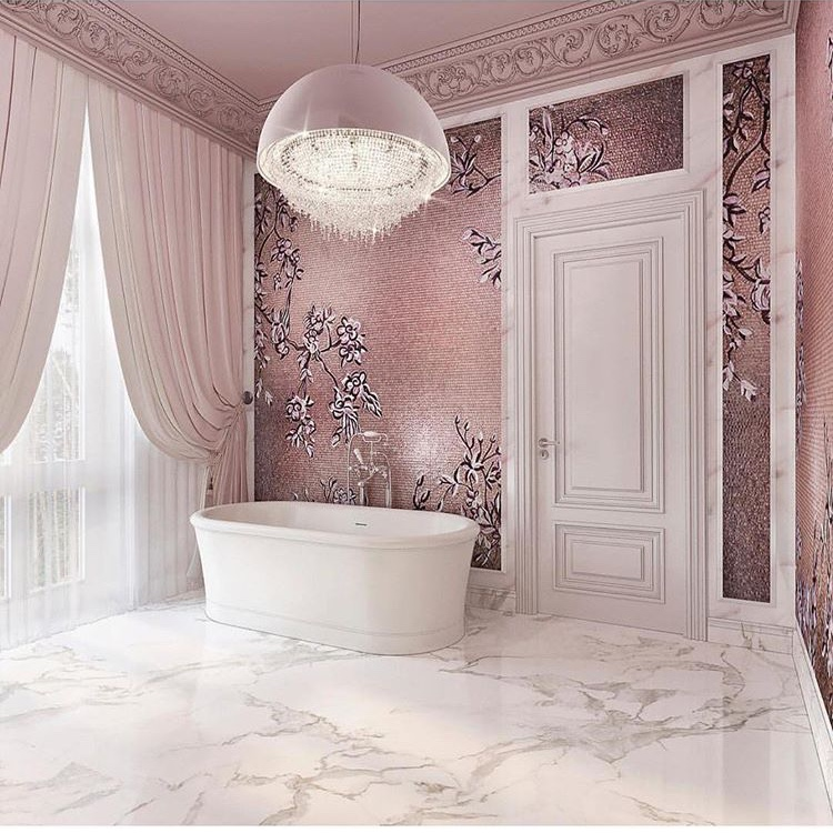 Robbielendesignn- pink bathroom